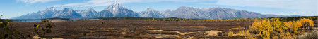 Very wide Panorama of the entire mountain range.