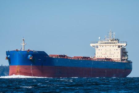 Bulk Carrier inbound on Puget Sound en route to Seattle