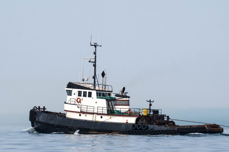 Ocean going tug transiting Shilshole Bay on the way north