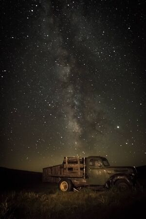 Taken during night time photo workshop in Bodie, CA