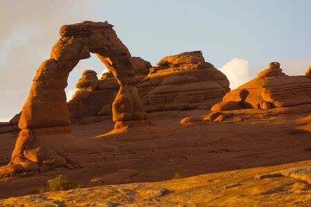 Sunset at Delicate Arch, Arches National Park, Moab, Utah