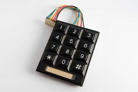 teclado numérico: teclado numérico en el fondo blanco