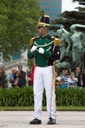 MONTEVIDEO, URUGUAY - OCTOBER 8, 2017: Captain of the Florida battalion.