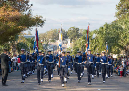 CANELONES, URUGUAY - MAY 18, 2018: Air force battalion of Uruguay, 207 anniversary of Battle of the Stones. Sajtókép