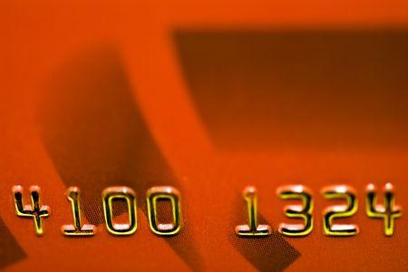 creditcard: detail of creditcard