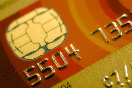 detail of creditcard