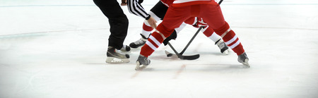 ice hockey player on the ice. Team sport Stock Photo