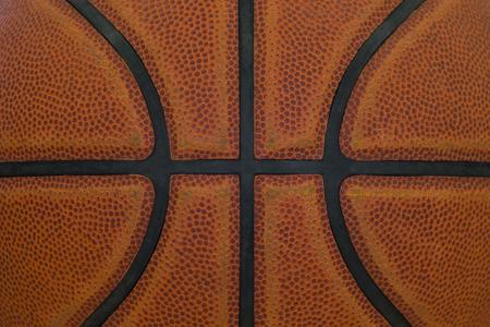 Détail de gros plan de fond de texture de ballon de basket-ball