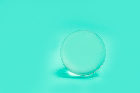 Crystal Glass Sphere Ball Transparent green Simple Object Background Light