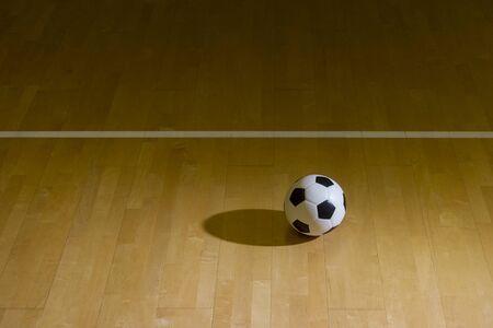 Indoor Soccer Futsal Ball. Team sport. Stock Photo