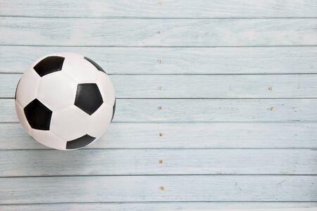 Indoor Soccer Futsal Ball. Team sport. Banco de Imagens