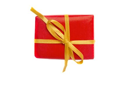Christmas Gift Box Placed On White Background