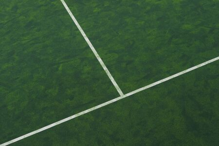 Green tennis court. Sport background