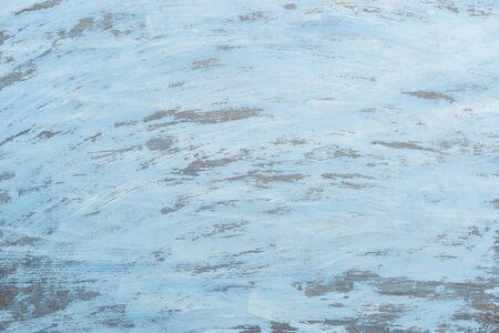 Texture of light blue wooden surface. Close up, top view, horizontal stripes. Banco de Imagens