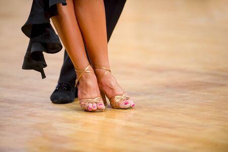 Woman dancer latino international dancing.