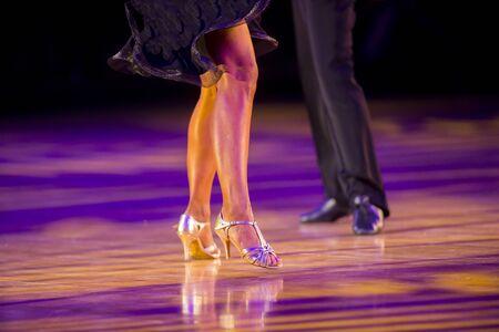 Woman and man dancer latino international dancing