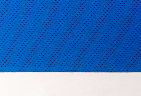 Blue and white football, basketball, volleyball, hockey, rugby, lacrosse, handball jersey clothing fabric texture sports wear background
