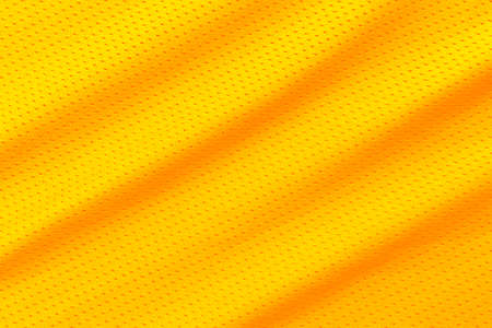 Yellow football, basketball, volleyball, hockey, rugby, lacrosse and handball jersey clothing fabric texture sports wear background