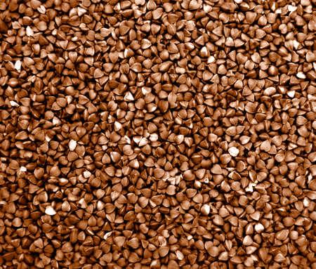 Texture background grain buckwheat groats. Zero waste storage concept .Macro Photo food buckwheat groats.