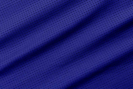 Blue football, basketball, volleyball, hockey, rugby, lacrosse and handball jersey clothing fabric texture sports wear background 版權商用圖片