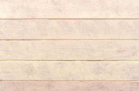 Empty cream color wooden plank background texture. Top view wooden plank panel 写真素材