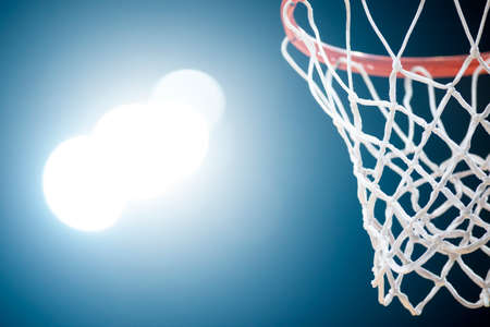 Basketball hoop isolated on black background. Professional sport concept Reklamní fotografie