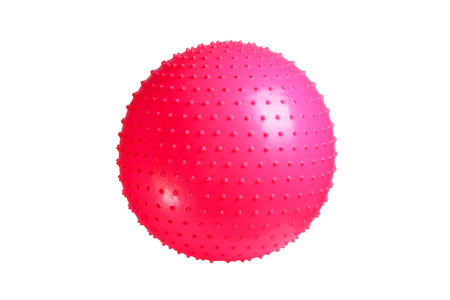 fitball: Close up of an fitness ball isolated on white background