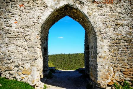 12th century: Ancient castle ruins Ukraine, built in 12th century