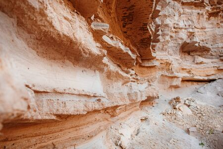 A fragment of the rock in the desert. Imagens