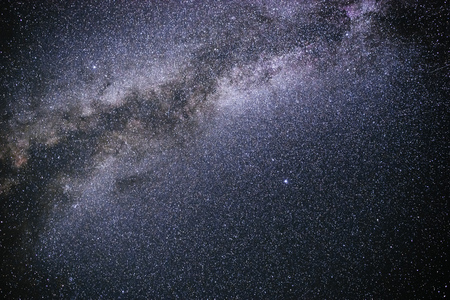 Background of starry night sky with the Milky Way.