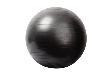 Close up of an fitness ball isolated on white background