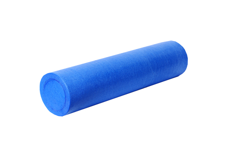 blue yoga mat on a white background ,isolated Reklamní fotografie