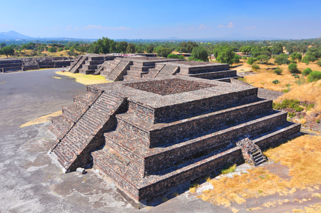 Mexico, Teotihuacan, platform along the Avenue of the Dead.