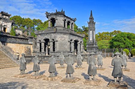 Tomb of Emperor Khai Dinh in Hue, Vietnam.