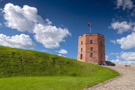 Tower Of Gediminas (Gedimino) In Vilnius, Lithuania. Historic Symbol Of The City Of Vilnius.