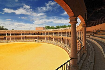 Plaza de Toros (Bullring) in Ronda, opened in 1785, one of the oldest and most famous bullfighting arena in Spain. Andalucia.