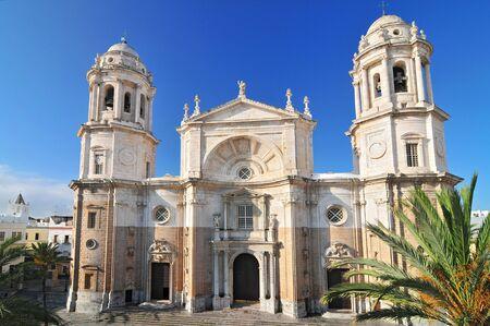 La Catedral de Cádiz llamada La Catedral Vieja de Cádiz o Iglesia de Santa Cruz. Cádiz. Andalucía, España.
