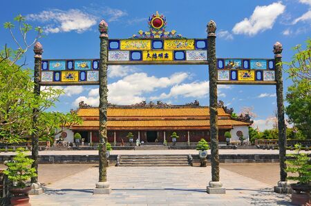 Vietnam, Hue, The Purple Forbidden, Imperial City, Supreme Harmony Palace and Great Enclosure.