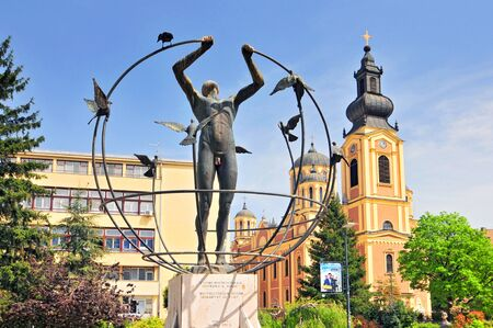 Orthodox church and multiculturalism monument in Sarajevo, Bosnia and Herzegovina.
