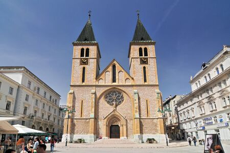 The Cathedral of Jesus' Heart in Sarajevo Bosnia and Herzegovina.