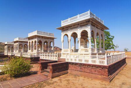 Four cenotaphs Jaswant Thada Jodhpur Rajasthan India. Stock fotó