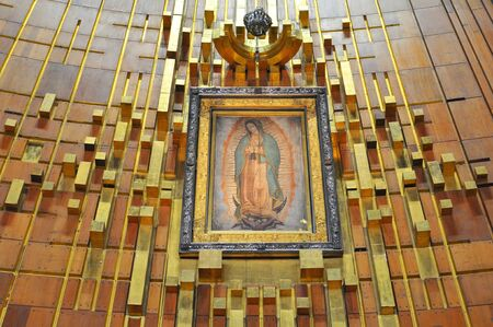 Image of Our Lady of Guadalupe in the New Basilica in Mexico City.
