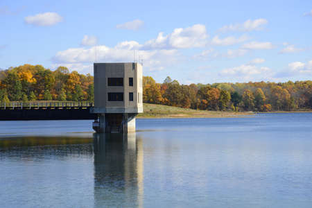 Merrill Creek Reservoir inlet outlet tower photo
