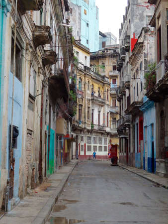 havana: havana street with colorful buildings