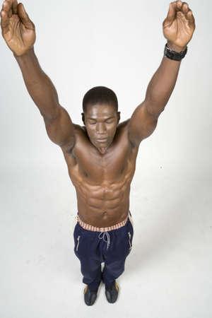 Black Athlete Stok Fotoğraf