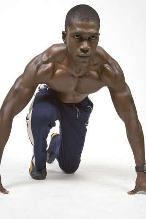 physique: Black Athlete Stock Photo