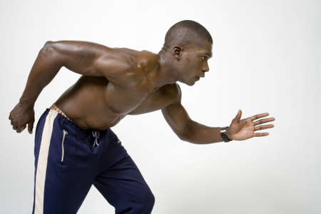 conditioned: Black Athlete Stock Photo