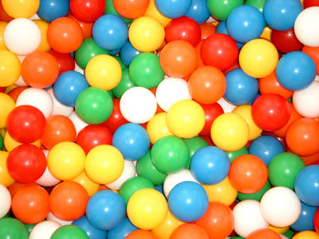 Pool with color balls Stock Photo