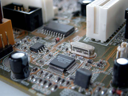 Detail of a mainboard Stock Photo