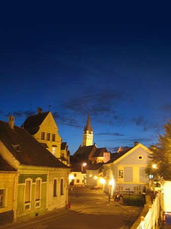 Old city in the night